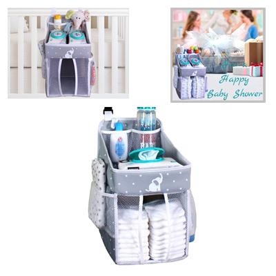 Crib Diaper Organizer For Newborn Boy And Girl