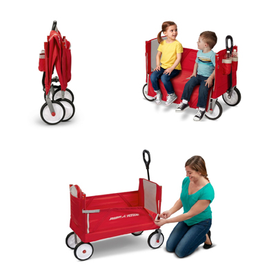 EZ Fold Wagon With Canopy 3 in 1