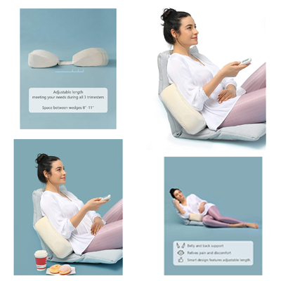 Memory Foam Pregnancy Side Pillow For Working, Reading And Sleeping