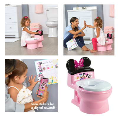 Potty Training Toilet Seat Minnie 2-in-1 For Toddler Girls Pink Color