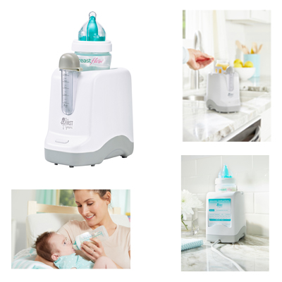 The First Years 2-in-1 Bottle Warmer And Pacifier Sanitizer For Heating Baby Food