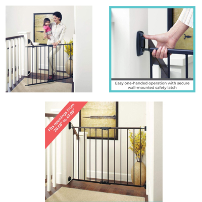 The Toddleroo By North States Easy Swing & Lock Gate Metal Matte Bronze Color