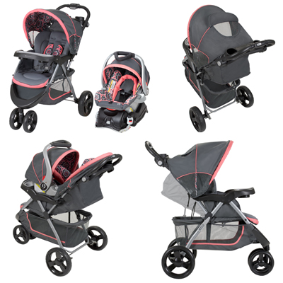 Trend Nexton Baby Travel System For Baby With Coral Floral